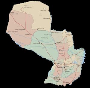 Mapa del Paraguay t